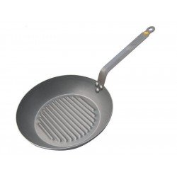 De Buyer's Mineral Iron Grill Skillet