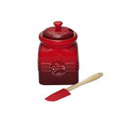 Frasco em cerâmica para compota Le Creuset com espátula