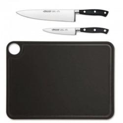 Cuchillos básicos y tabla de corte Arcos