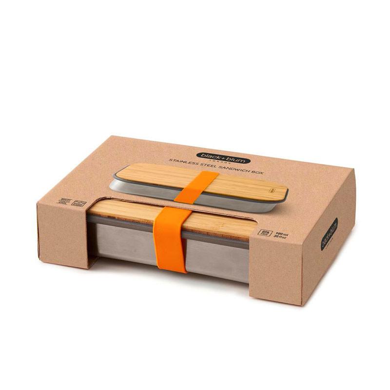 Sandwich box de acero inoxidable Black+Blum