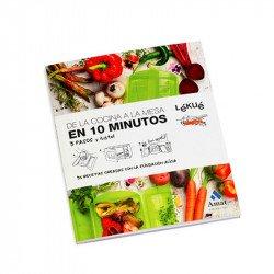 """Libro """"De La Cocina A La Mesa En 10 Minutos"""" Lékué"""