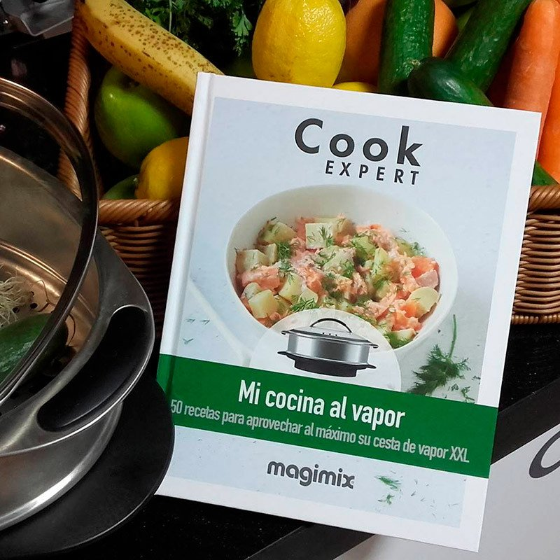 Portada libro mi cocina al vapor para Cook Expert de Silvia Icart