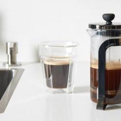café expresso Conjunto 2 copos em vidro parede dupla.