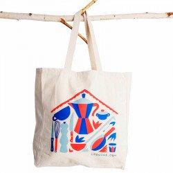 Saco em tecido Tote Bag Lecuine