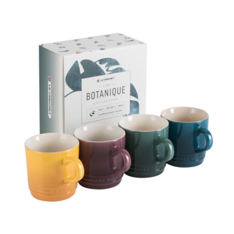 Set van 4 espressokopjes Botanique Le Creuset