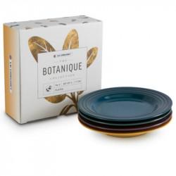 Conjunto 4 pratos pequenos coleção Botanique Le Creuset